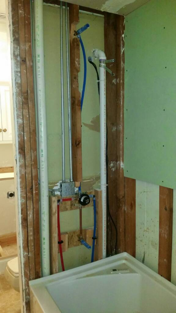 Tub/Shower Valve Installation - Plumbing Zone - Professional ...