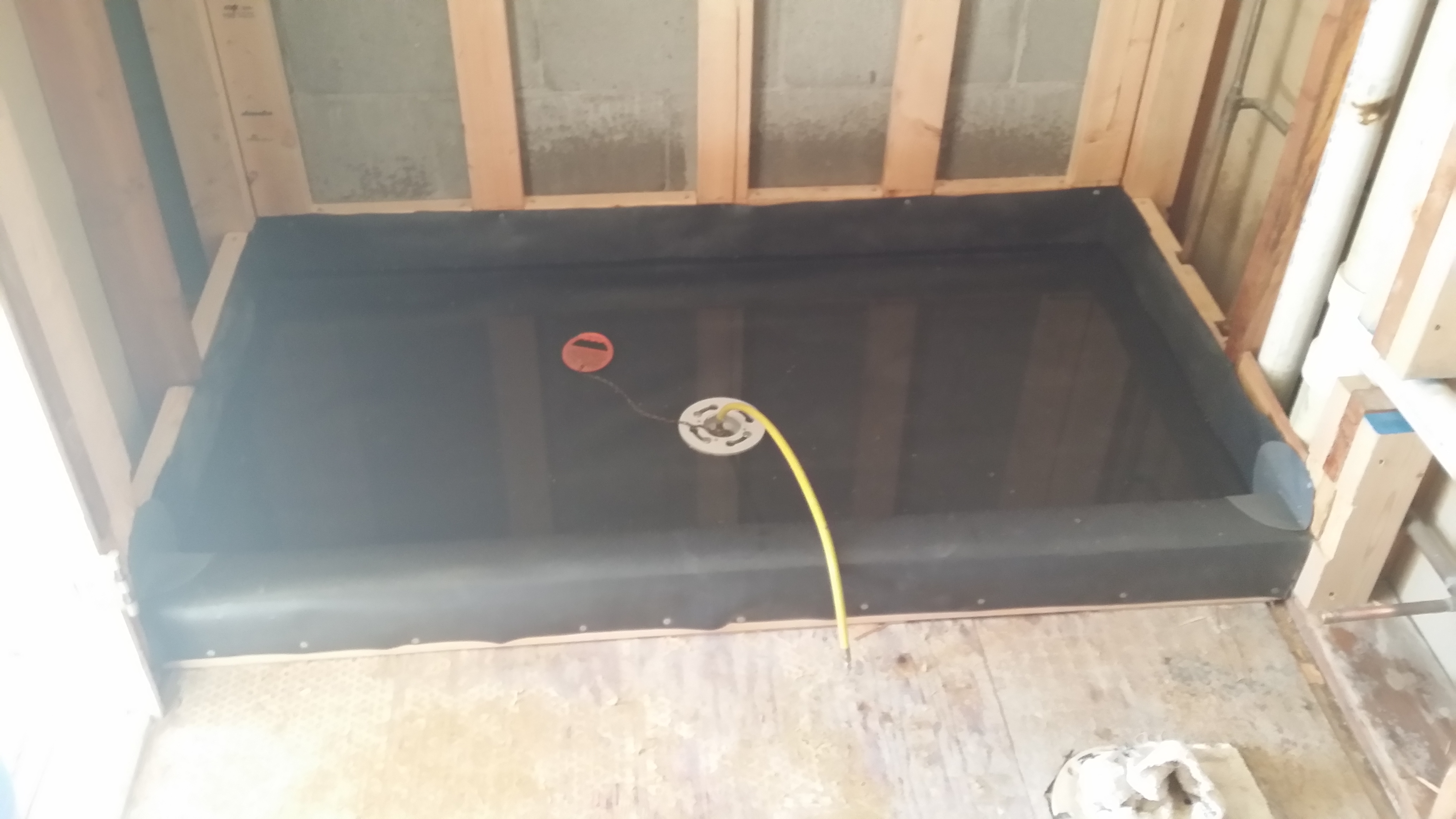 Pre slop shower pan liner page 2 plumbing zone - Shower base liner ...