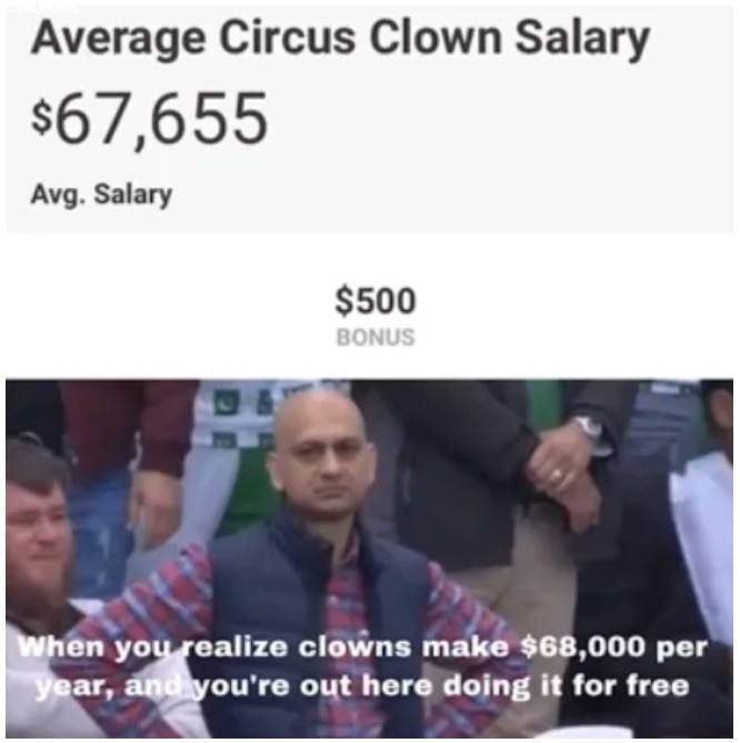 COST TO DEMO 25' of Cast iron pipe and install-clown_salary.jpg