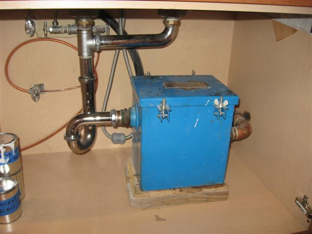 Residential Kitchen Sink Grease Trap