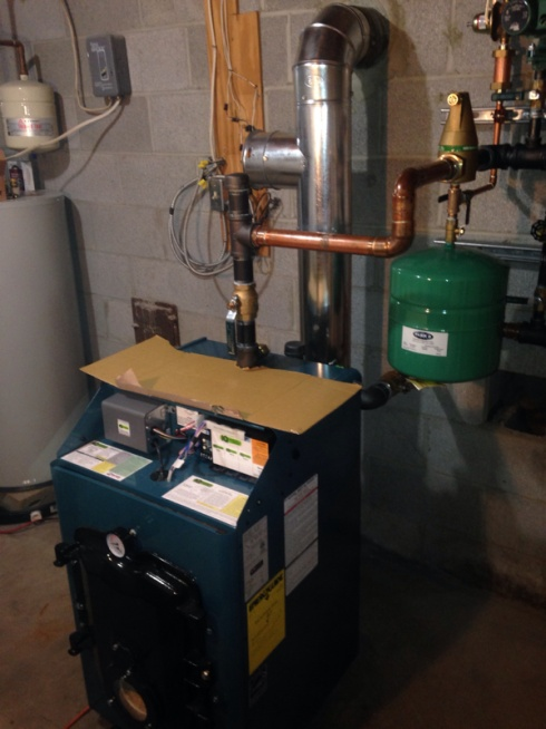 Oil Fired Hot Water Boilers Home Heating ~ Oil fired hot water boiler baseboard heat plumbing zone