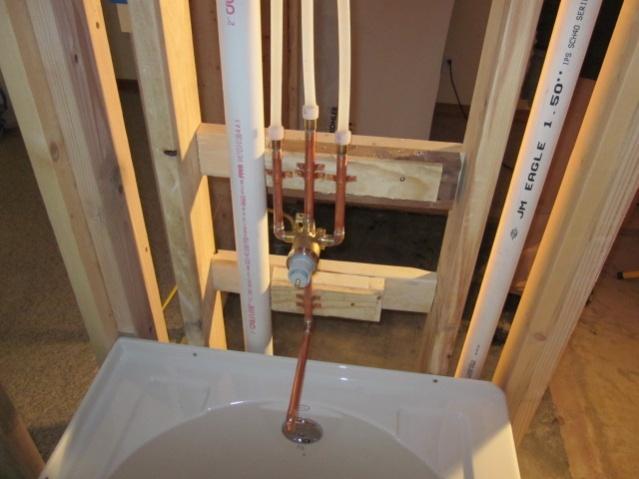 Plumbing basement bathroom