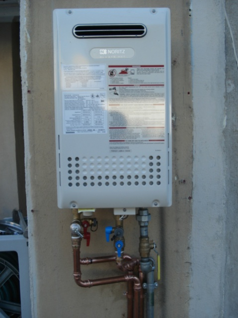 Mounting Tankless Water Heater : Noritz tankless water heater propress installation
