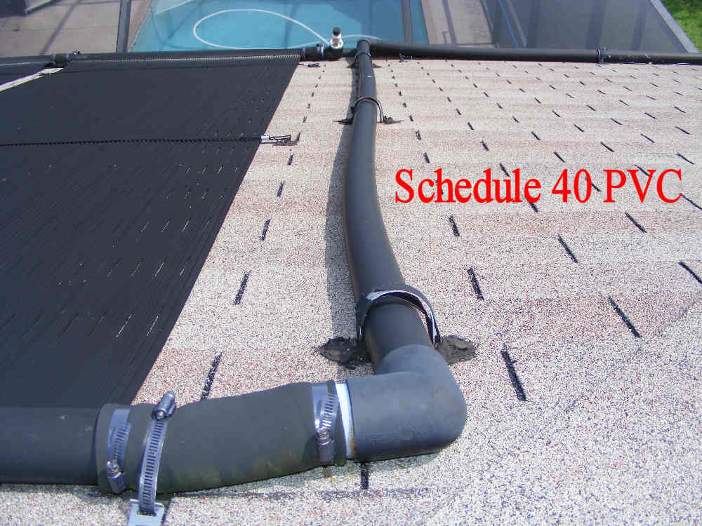 Pvc pipe on solar pool heaters plumbing zone for How to pipe a water heater
