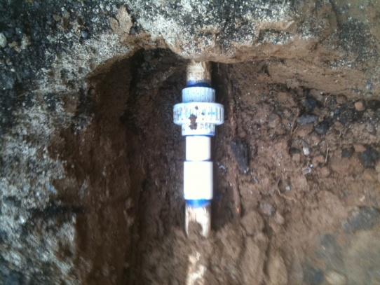 Underground Repair On 1 1/2 Pvc Water Main