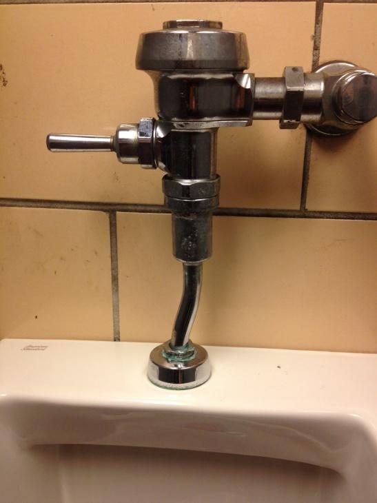 homemade urinal offset - Plumbing Zone